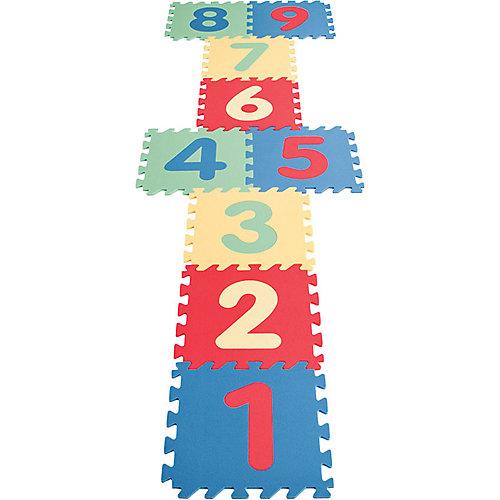 Игровой коврик 9-ти секционный с цифрами, 33х33х0,7 см - разноцветный от Pilsan