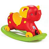 """Качалка-каталка Pilsan Rocking Elephant """"Слоник"""", с блокировкой, красная"""