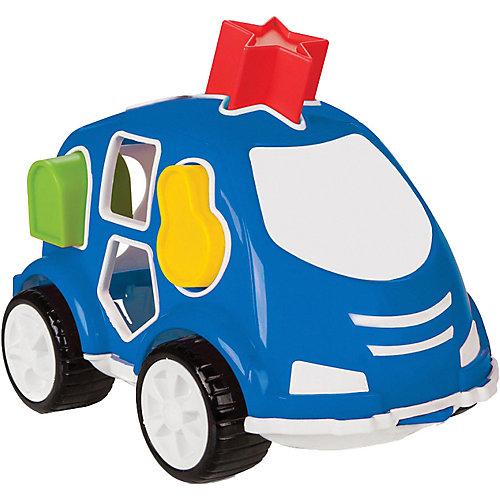 Машинка с кубиками Pilsan Smart Shape Sorter Car, синяя от Pilsan