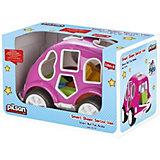 Машинка с кубиками Pilsan Smart Shape Sorter Car, розовая