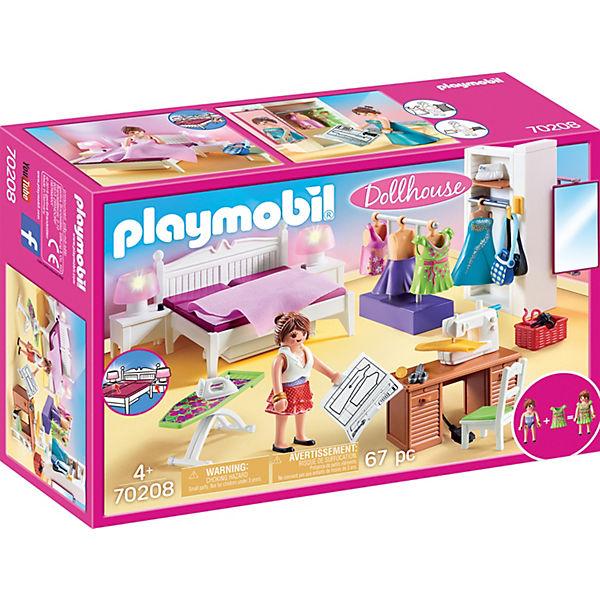 PLAYMOBIL® 70208 Schlafzimmer mit Nähecke, PLAYMOBIL Dollhouse