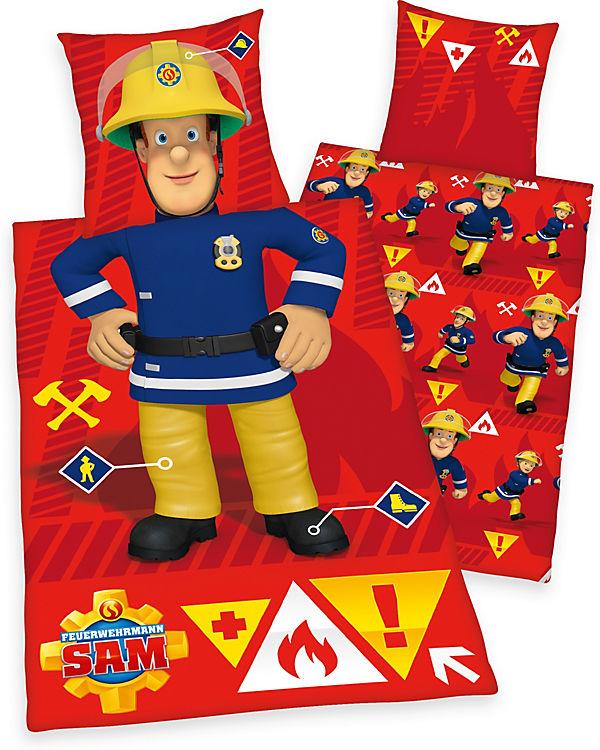 Kinderbettwäsche Feuerwehrmann Sam Renforcé 80 X 80 Cm 135 X 200 Cm Feuerwehrmann Sam