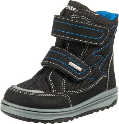 Richter Kinder Halbschuhe Sneaker schwarz Warm Leder