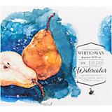 Склейка для акварели Малевичъ White Swan, 200 г/м,19х17 см, 20 листов