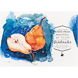 Склейка для акварели Малевичъ White Swan, 200 г/м, 32х23 см, 20 листов