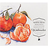 Склейка для акварели Малевичъ White Swan, 250 г/м, 19х17 см, 20 листов