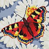 Алмазная мозаика Белоснежка Бабочка на ромашках, 30х30 см