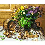Картина по номерам Белоснежка Букет и грибы, 40х50 см