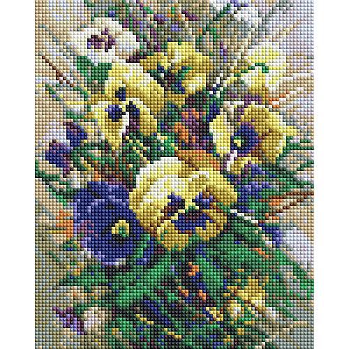 Мозаичная картина Белоснежка Букет с анютками, 20х25 см от Белоснежка