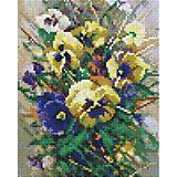 Мозаичная картина Белоснежка Букет с анютками, 20х25 см