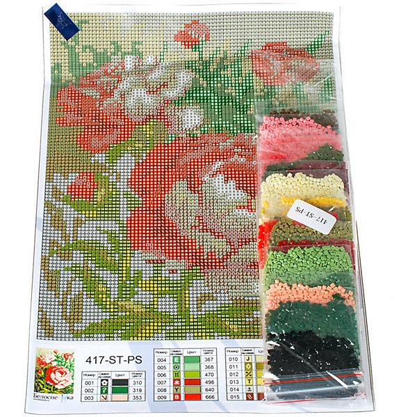 Мозаичная картина Белоснежка Цветущий куст, 20х25 см