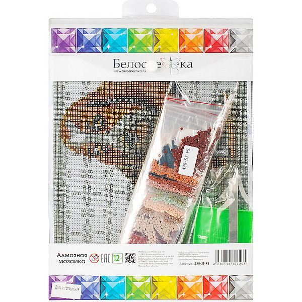 Мозаичная картина Белоснежка Бассет-хаунд, 20х25 см
