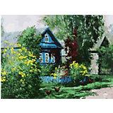 Живопись на холсте Белоснежка Домик в деревне, 30х40 см