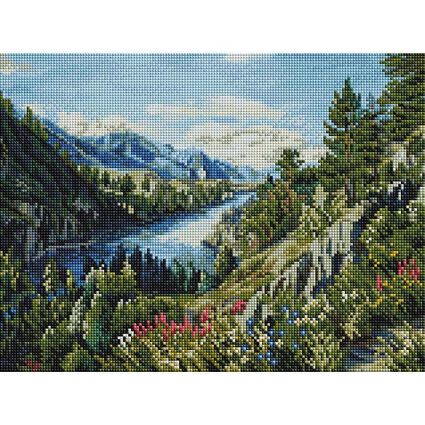 Алмазная мозаика Белоснежка Река Катунь, 30х40 см