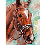 Живопись на холсте «Лошадь», Белоснежка, 30х40 см
