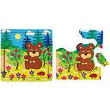 Игра из дерева STEP puzzle Baby Step, Медвежонок