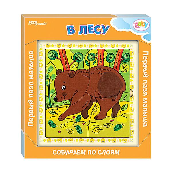 Игра из дерева STEP puzzle Baby Step, В лесу