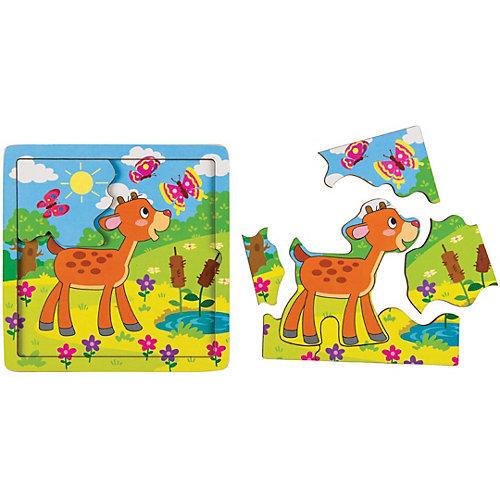 Игра из дерева STEP puzzle Baby Step, Оленёнок от Степ Пазл