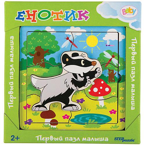 Игра из дерева STEP puzzle Baby Step, Енотик от Степ Пазл