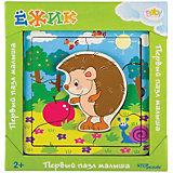 Игра из дерева STEP puzzle Baby Step, Ёжик