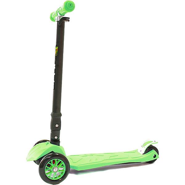 Трехколесный самокат Hubster Maxi Plus, зеленый