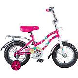 """Двухколесный велосипед Novatrack Tetris, 12"""", розовый"""