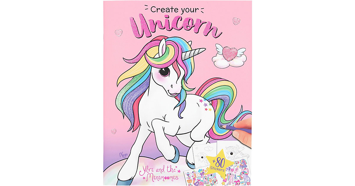Buch - Ylvi Create your Unicorn Malbuch