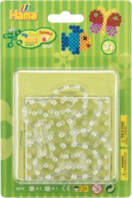 Bügelbilder Hama Maxi Bügelperlen Schablonen Steckplatten Stiftplatte Schmetterling Basteln & Kreativität
