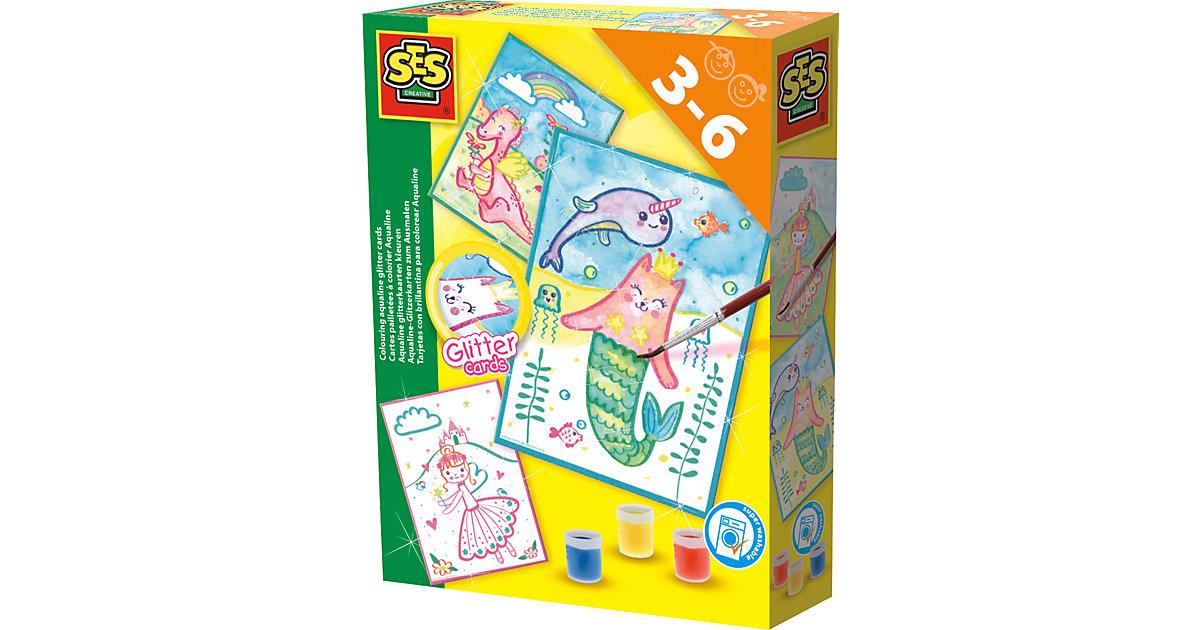 Aqualine-Glitzerkarten