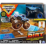 Набор Spin Master Monster Jam Blue Thunder, с машинкой и кинетическим песком