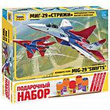 """Сборная модель Zvezda """"Самолет МиГ-29 аввиагруппа Стрижи"""""""