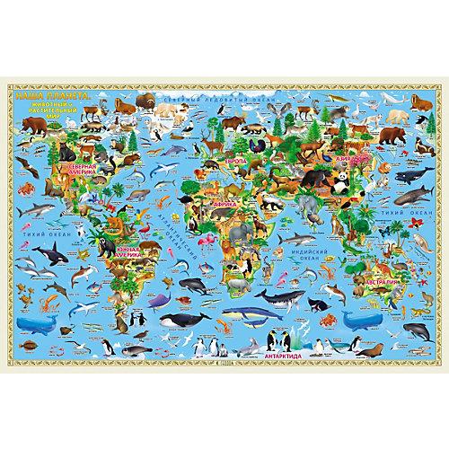 Карта настенная Геодом «Наша планета. Животный и растительный мир» от ГеоДом