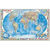Карта настенная Геодом «Мир Политический с флагами»