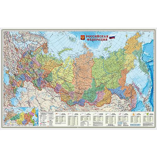 Карта настенная Геодом «Российская Федерация. Субъекты федерации» от ГеоДом