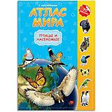 Атлас Мира с наклейками Геодом «Птицы и насекомые»