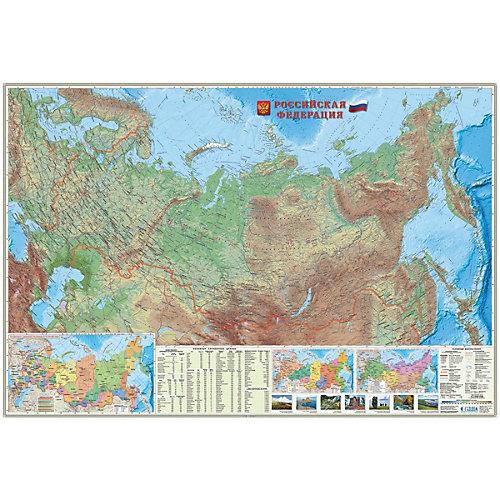 Карта настенная Геодом «Россия Физическая» от ГеоДом