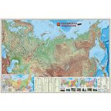 Карта настенная Геодом «Россия Физическая»