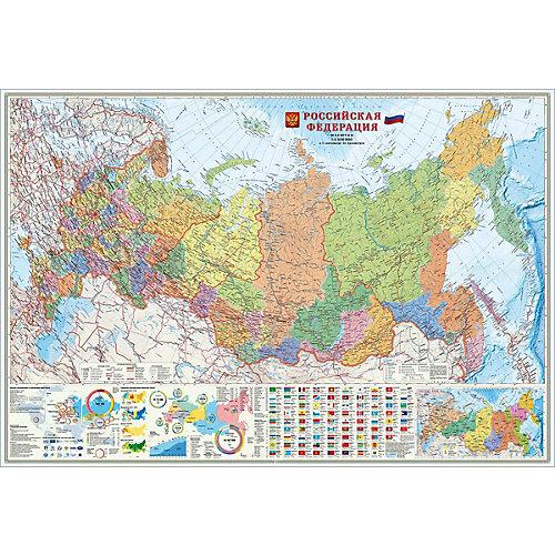 Карта настенная Геодом «Российская Федерация.+Инфографика» от ГеоДом