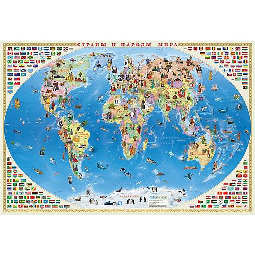 Карта Мира настенная Геодом «Страны и народы мира» от ГеоДом