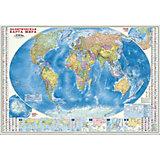 Карта настенная Геодом «Мир Политический+Инфографика»