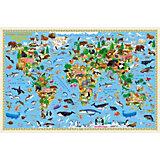 Карта Мира настенная Геодом «Наша планета. Животный и растительный мир»