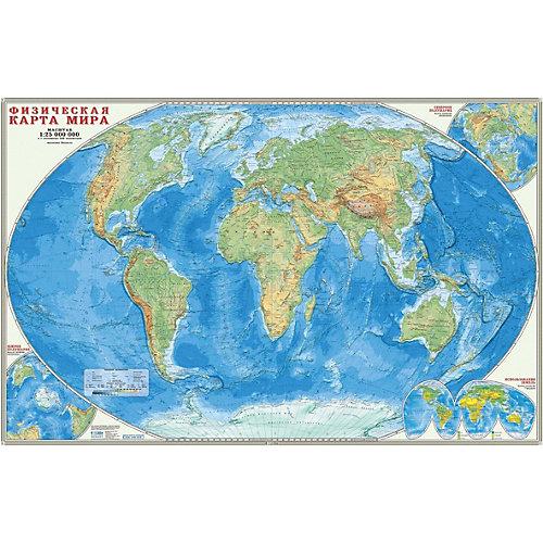 Карта настенная Геодом «Мир Физический» от ГеоДом