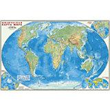 Карта настенная Геодом «Мир Физический»