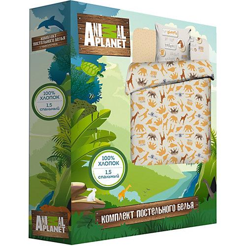 Постельное белье Василёк Тинейджер Animal planet 1,5 спальное, поплин от Василёк