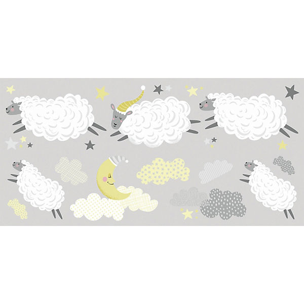 Wandsticker Counting Sheep, 21-tlg.