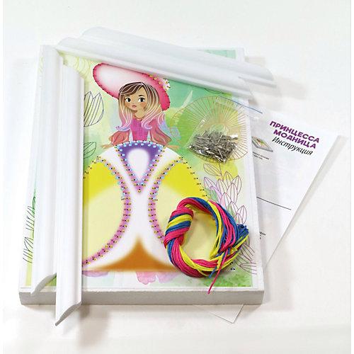 """Набор для творчества Десятое королевство """"Плетение нитками по гвоздикам. Принцесса модница"""" от Десятое королевство"""