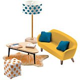 Мебель для кукольного дома Djeco Оранжевая гостиная
