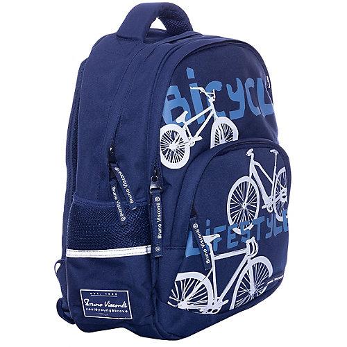 Рюкзак BrunoVisconti «Велосипеды», синий - разноцветный от Bruno Visconti