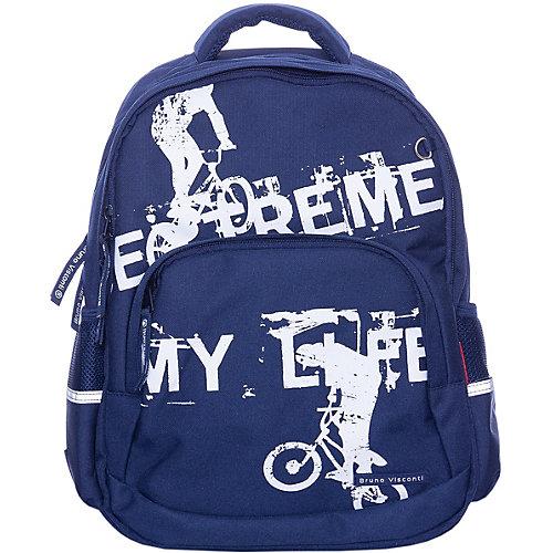 Рюкзак BrunoVisconti «Экстрим. Велосипед», синий - разноцветный от Bruno Visconti
