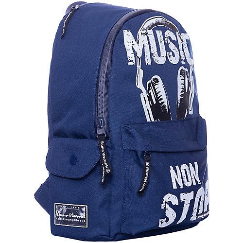 Рюкзак BrunoVisconti Music, синий - разноцветный от Bruno Visconti